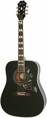 Epiphone by Gibson Limited Edition Hummingbird PRO (Ebony)Japan rare EMS F/S