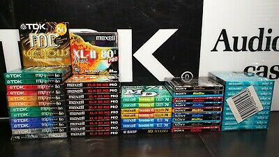 TDK/MAXELL/SONY/SHARP 80/74 Mini-Discs (×50) : NEW & SEALED