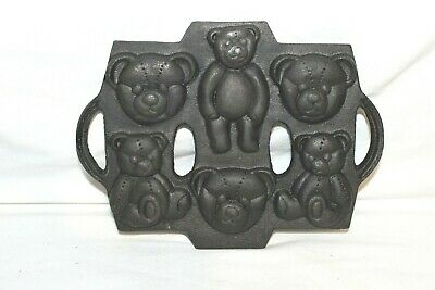 Mold cast iron teddy bear candy jello cookie holiday baking gift chocolate art