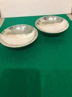 A PAIR OF SILVER DISHES - LONDON - 1933 by MAPPIN & WEBB