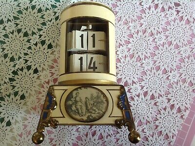 Vintage Abessi German Flip Ticket Clock