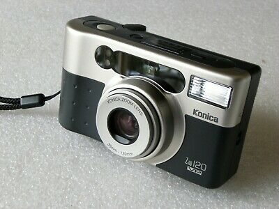 KONICA COMPACT POINT AND SHOOT 35mm FILM CAMERA,   z-up 120 VP