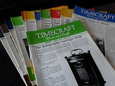 Timecraft Clocks And Crafts Magazine Full Set Year 1985