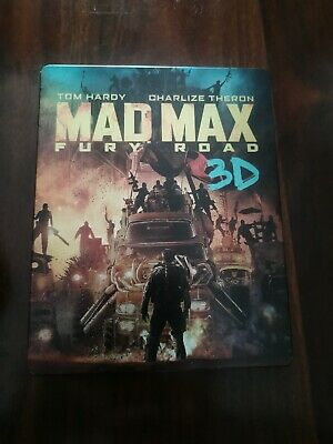 Mad Max Fury Road Blu Ray Steelbook 3D German Import with 4K Disc