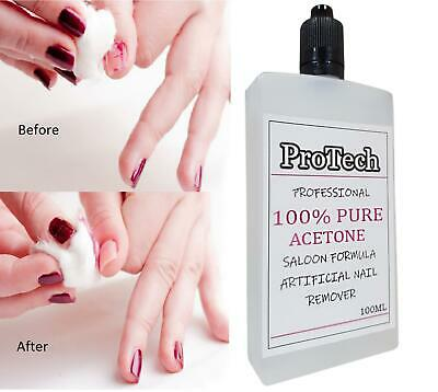 100% Pure Acetone Premium Quality Nail Polish Remover UV/LED GEL Soak Off UK