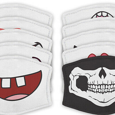 Funny Mouth - Reusable Childrens Face Masks - 2 Filters Included