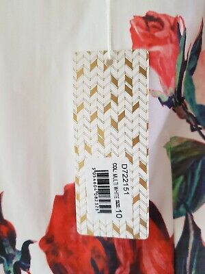Stella Morgan White and Red Floral Prom/Races/Wedding Outfit Size 10 RRP£160.00