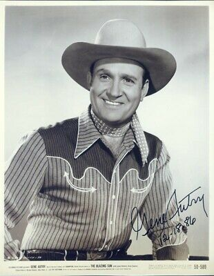 Gene Autry - Photograph Signed 12/18/1986