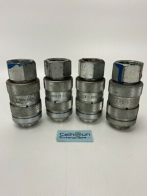 (LOT OF 4) DynaQuip DC-3 Quick Disconnect Fittings   *WARRANTY*