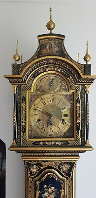 Ornate Georgian Style Longcase Grandfather Clock