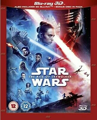 Star Wars: The Rise of Skywalker 3D (Region Free Blu-ray Disc, 2020) & slipcover