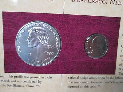 1993 Thomas Jefferson Coinage and Currency Commemorative Set