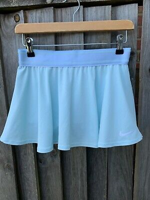 Nike dri-fit tennis skirt/shorts older girls size L 12-13 years old in igloo/whi