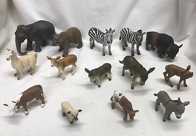 Schleich AM Limes 69 Lot of 14 Animals American Buffalo Elephant Grizzly Bear