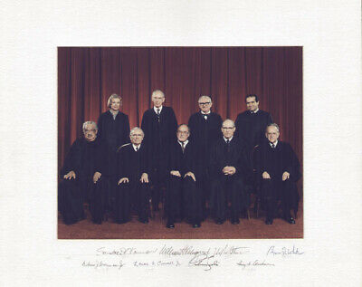 The William H. Rehnquist Court - Photograph Mount Signed With Co-Signers