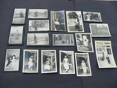 17 Photo Lot, Women In Fashionable Clothes C 1915-20