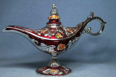 Decorative Exquisite Handwork Miao Silver Carved Red Pattern Auspicious Teapot