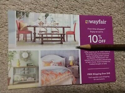 Wayfair 10% Off First Purchase Coupon! Exp. 07/31/20, GET IT NOW!