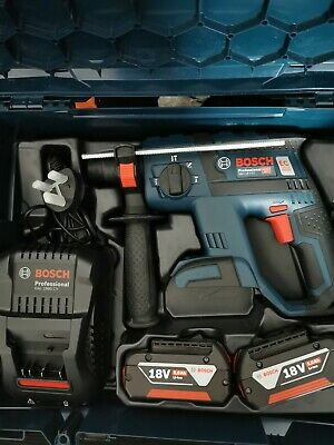 Bosch 18v Brushless SDS With 2 5ah batteries And charger In box