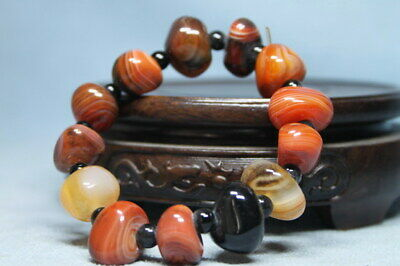 Collectable Agate Polishing Different Shapes Beads Rare Precious Hand Catenary