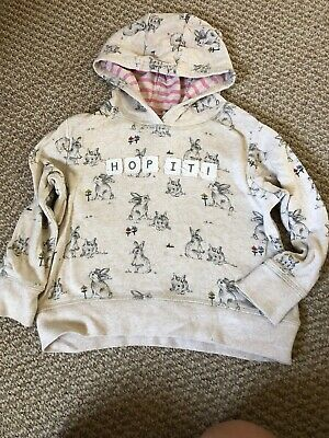 Girls Next grey rabbit hoodie age 3-4 years