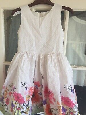 Girls Cute Next Floral /Girl Detail Dress Age 5-6 Years