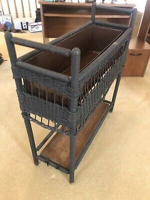 Vintage Farmhouse Garden Wicker Fern Planter Flower Box