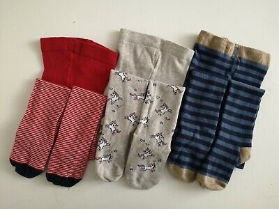NEXT___3 pairs of tights girl age 5-6 yrs ex con worn once inc unicorn tights