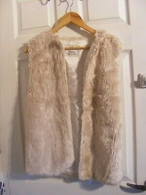 Girls - Faux Fur - Gillet / Bodywarmer - 12-13 years - cream - YD,smart