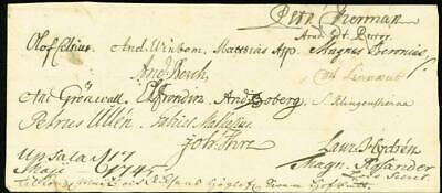 Carolus Linnaeus - Autograph 05/17/1745 With Co-Signers