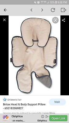 Britax Head and Body Support Pillow for Strollers and Car Seats
