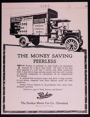 Early 1900's Peerless Motor Car Co,8 x 10 Ad from Life Mag  C32D