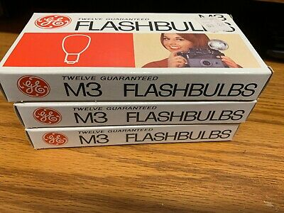 General Electric M3 Flash Bulbs NOS 3 Boxes of 12