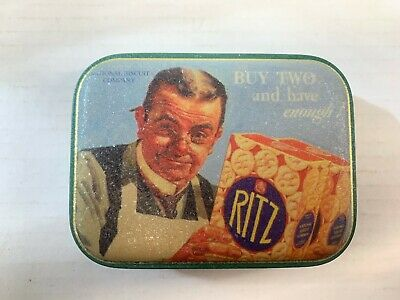 Vintage Advertising Tin RITZ National Biscuit Company