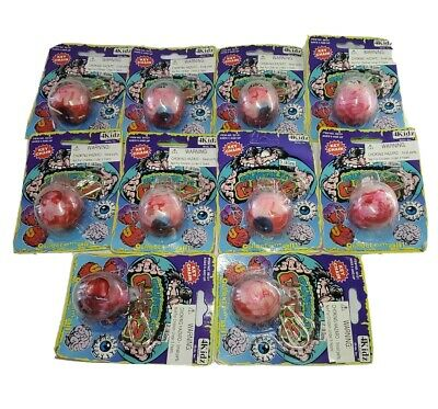 VTG Gurglin Gutz Dr. I.M. Gorey Brain Ball Lot Of 10 Key Chain
