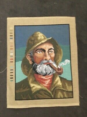Tapestry Canvas ONLY - A Man smoking a Pipe