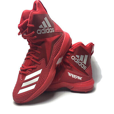 Adidas Mens Freak X Carbon High Lace Football Cleat Shoes White Red Size 16 US
