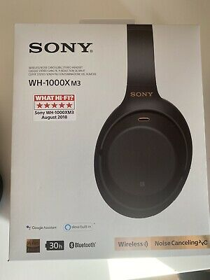 Sony WH-1000XM3 Wireless Noise Cancelling Headphones - Black - Bluetooth USB-C