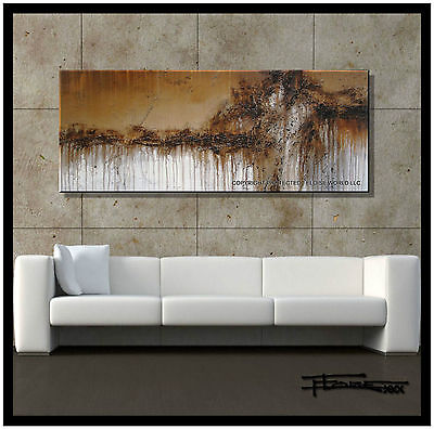 ABSTRACT PAINTING Modern CANVAS WALL ART Framed Signed Large US ELOISExxx