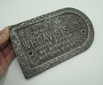 Old Cast Ion WHDAVIS & Sons Ltd Plaque / Sign Transport related?
