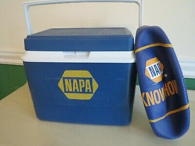 """Vintage NAPA Auto Parts COOLER & New Never Filled 12"""" Basketball"""