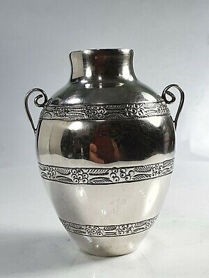 Delightful Quality Vintage Twin Handled Silver Vase