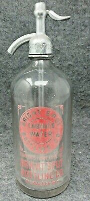 Bright Spot BOTTLING CO. Etched Seltzer Siphon Bottle Milwaukee WISCONSIN
