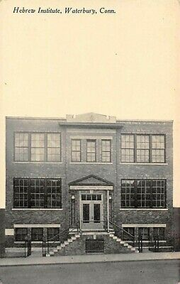 WATERBURY, CT, HEBREW INSTITUTE, FRONT FACADE, DANZIGER & BERMAN PUB c 1907-14