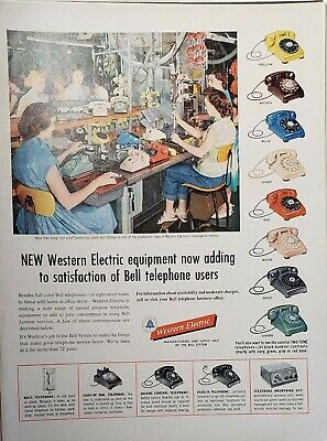 Lot 3 Vintage Western Electric Advertisements Snow Whites Bell Telephone