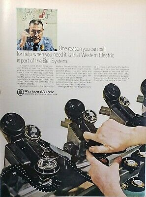 Lot 3 Vintage Western Electric Print Ads One Reason..