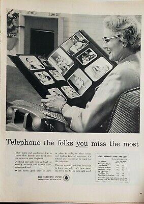 Lot 3 Vintage 1962 Bell Telephone Long Distance Print Ads Folks You Miss