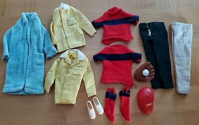 Vintage Barbie Skipper Friend Ricky Clothes & Accessories Lot