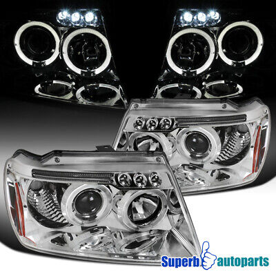 For 1999-2004 Jeep Grand Cherokee LED Halo Projector Headlights