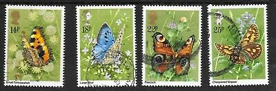 Gb Sg1151-54 Butterflies Average Used Set 1981